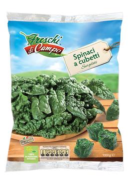 Spinaci cubetti Freschi di Campo 1 kg