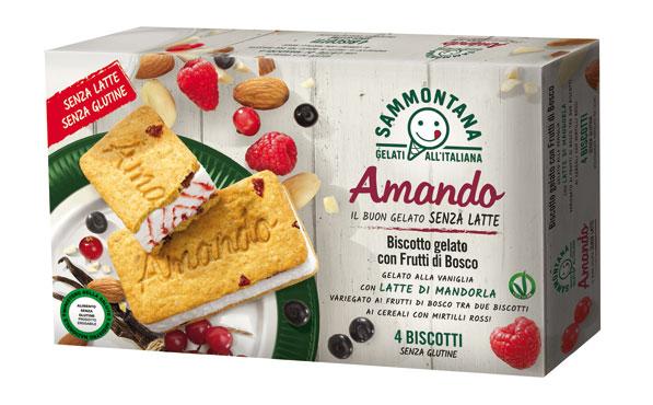 Gelati Amando senza glutine/lattosio vari gusti 208/300/330g