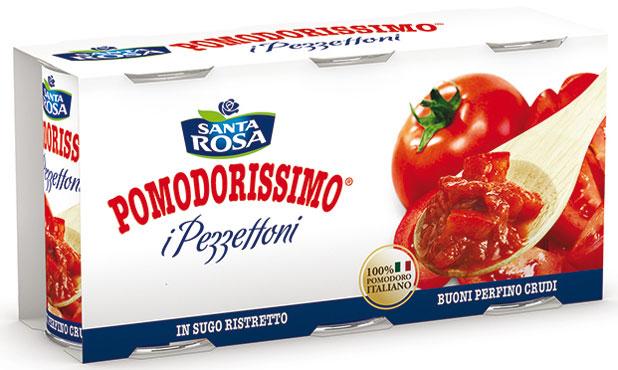 Polpa Pezzettoni Santa Rosa 3 x 400 g