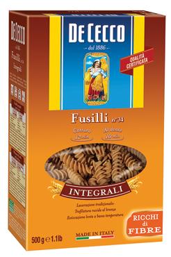 Pasta Integrale De Cecco vari formati 500 g
