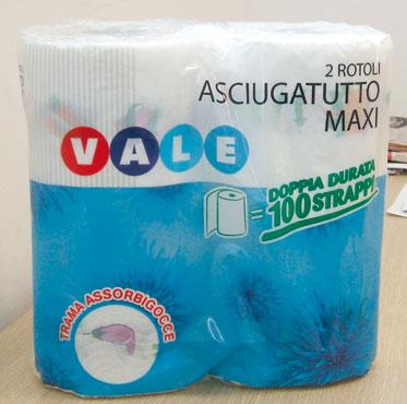 ASCIUGATUTTO MAXI X2 ROTOLI VALE