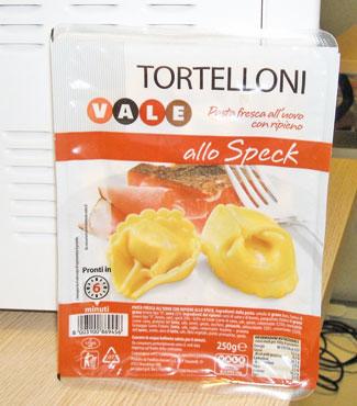 TORTELLONI SPECK GR.250 VALE