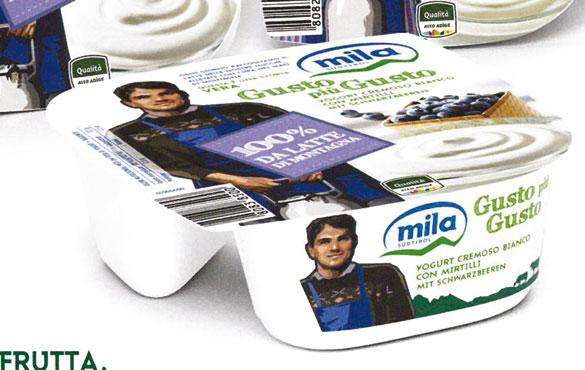 Yogurt Mila bicomparto con e senza lattosio 150 g