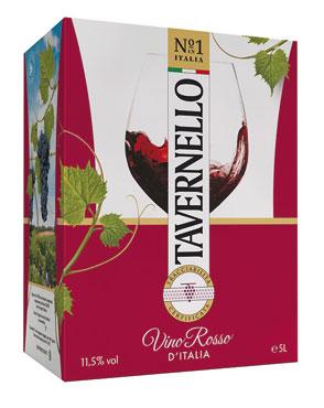 Vino Tavernello bianco/rosso bag in box 5 l