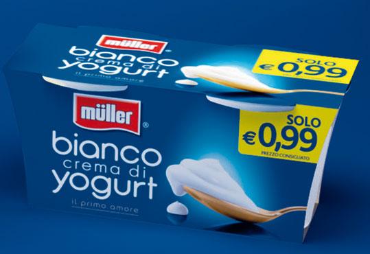 Crema yogurt bianco/bianco 0.1% Muller 2 x 125 g