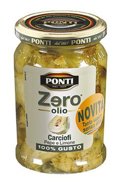 Carciofi/Pomodori secchi/Funghi ZeroOlio Ponti 300 g