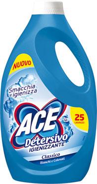 Detersivo liquido lavatrici Ace classico/colorati 25 lavaggi