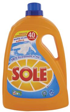 Detersivo liquido lavatrice Sole vari tipi 40/37 misurini