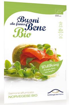 Salmone affumicato norvegese bio Bottega del mare 75 g