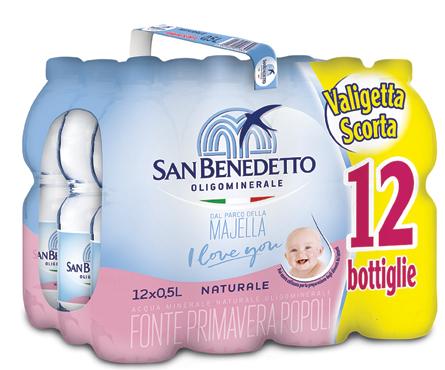 Acqua S.Benedetto naturale/frizzante 12 x 50 cl
