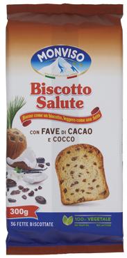 Fette biscottate Monviso mirtilli/fave cacao/classiche/integrali 300 g