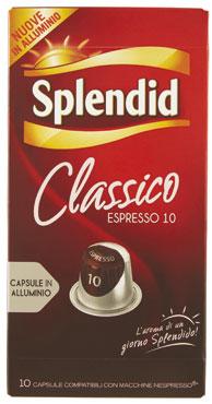 Capsule Splendid compatibile Nespresso classico/ristretto X10/12 52 g