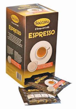 Caffe' Saccaria espresso cialde x 18 125 g