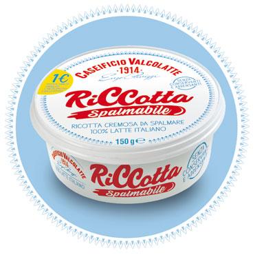Riccotta Spalmabile Valcolatte 150 g