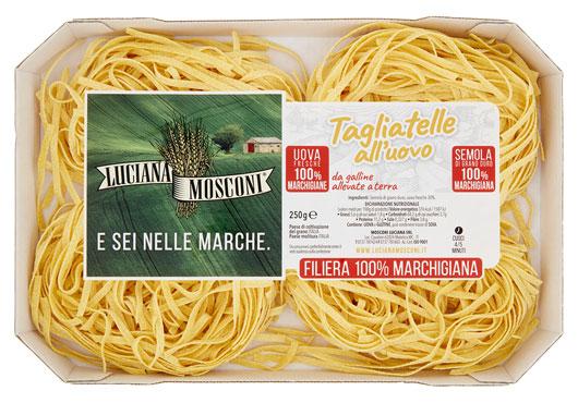 Pasta all'uovo Mosconi 100% filiera Marchigiana vari formati 250 g