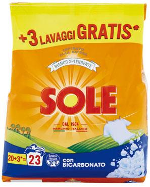 Sole lavatrice polvere 20+3 misurini