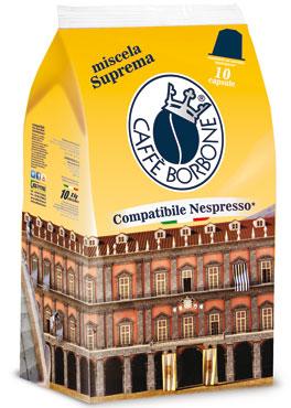 Capsule Borbone suprema/nobile compatibile Nespresso/A Modo Mio x10 50g