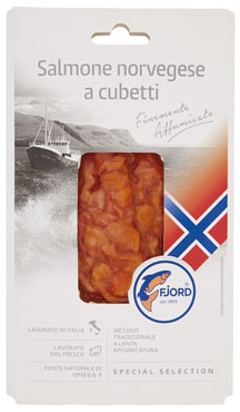 Salmone norvegese a cubetti Fjord 90 g