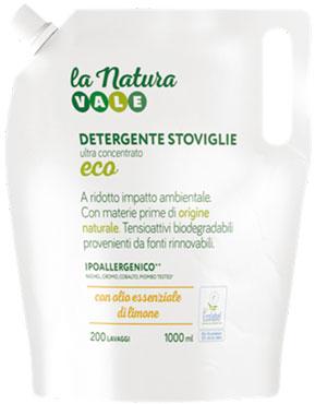 Detergente Stoviglie Vale concentrato eco limone ricaricabile 1 l