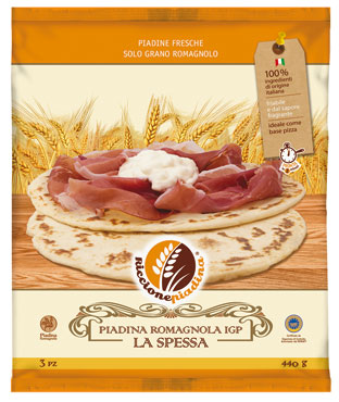 Piadina romagnola la spessa Riccione x 3 440 g
