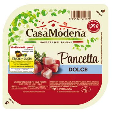 Pancetta a cubetti dolce/affumicata Casa modena 110 g