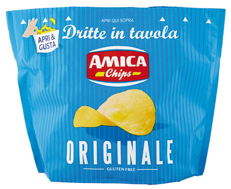 Patatine dritte in tavola Amica Chips vari gusti 135 g