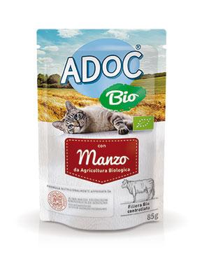 Adoc cane/gatto busta bio vari gusti 85/100 g