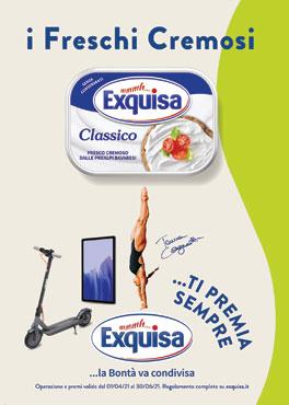 Formaggio fresco spalmabile classico/light Exquisa 175 g