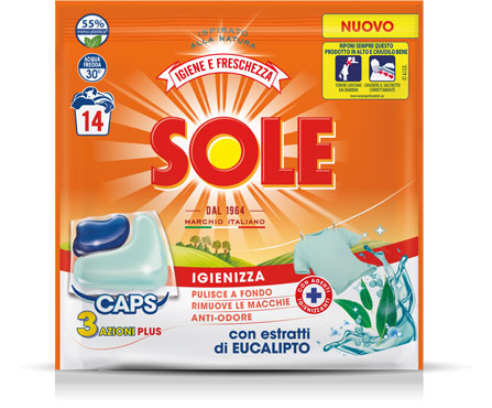 Gelcaps Sole bianco splendente/proteggi coloreX15 igienizzante/freschezza X14