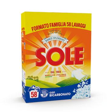 Sole detersivo in polvere lavatrice 58 misurini